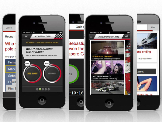 Ted Kilian - Mobile App Design: SingTel F1 application and website