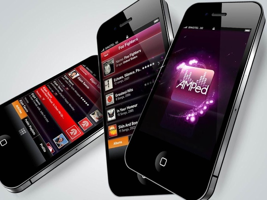Ted Kilian - Mobile App Design: AMPed music app and web interface design