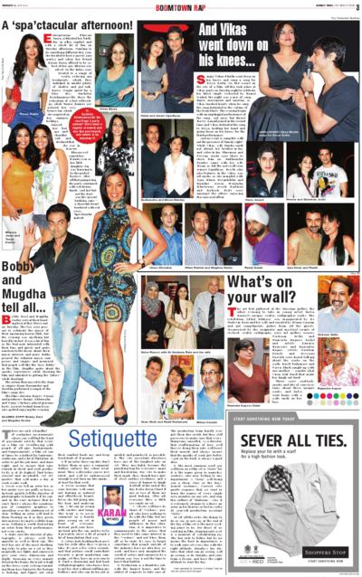 Salva Rasool - art & beyond - Bombay Times, Mumbai - 22nd July 2010, pg 3