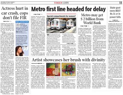Salva Rasool - art & beyond - The Times of India, Mumbai - 21st July 2010, pg 11