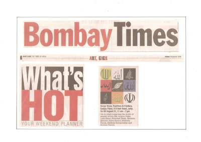 Salva Rasool - art & beyond - Bombay Times, Mumbai - 14th Aug 2009