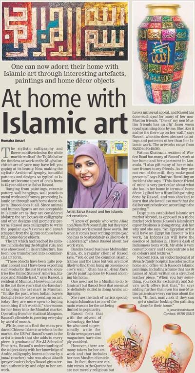 Salva Rasool - art & beyond - DNA, Mumbai - 25th July, pg 9