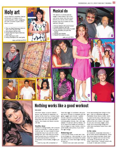 Salva Rasool - art & beyond - Mid Day, Mumbai - 21st July 2010