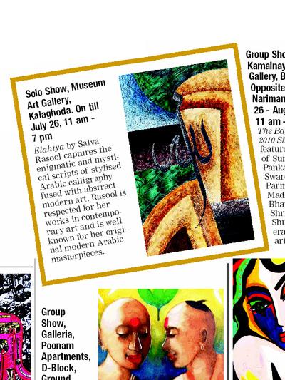 Salva Rasool - art & beyond - Bombay Times, Mumbai - 23rd July 2010