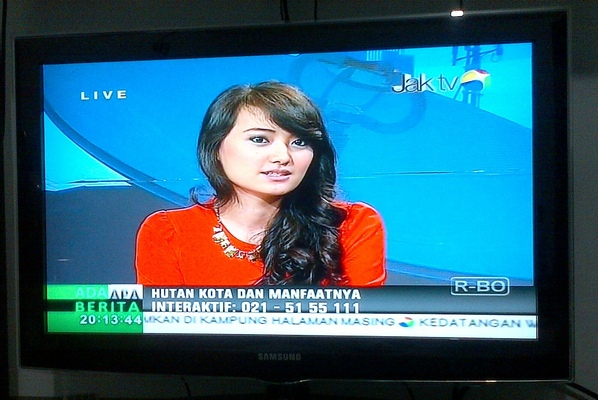 PATRISHIELA - News Talk JakTv about City Forest in Jakarta