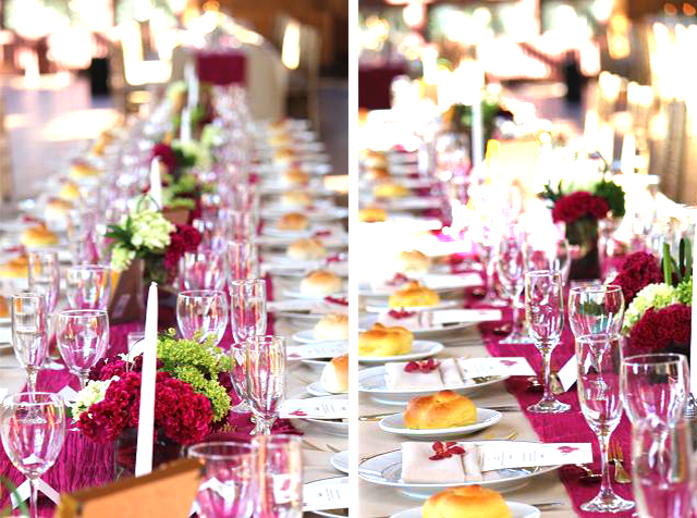 Events stylist Singapore - Fuchsia wedding