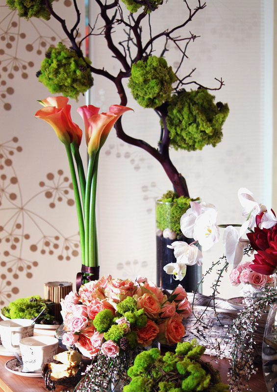 Events stylist Singapore - Moss trees and high tea