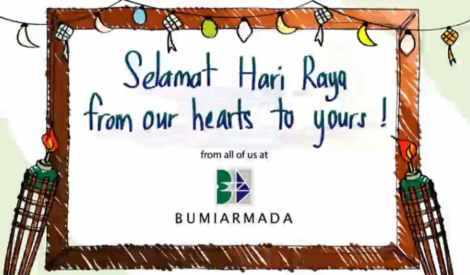 AZLAN ANDI - Bumi Armada, is a Malaysia-based international offshore oilfield services provider that is a global FPSO player and among the top owners. We did an ecard Raya for them to blast to their clients.