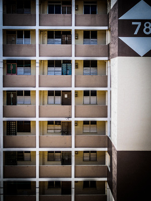 Snaps - My Photographic Creation - Block 78, Commonwealth Drive. It looks like any other old HDB block in Singapore but trust me, all the units are vacated except for a few.