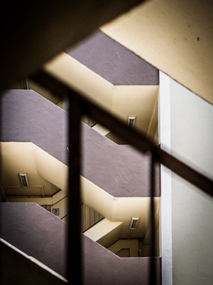 Snaps - My Photographic Creation - I took to the stairs to rediscover the charms of these old HDB blocks.