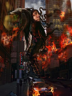 Montana Jade - VFX & Green screen composit concept
