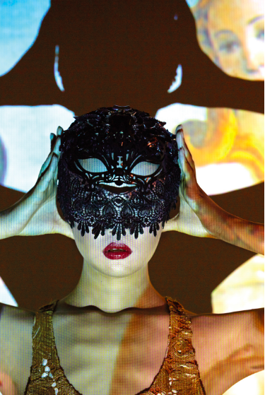 XINDI SIAU - Masquerade mask Acrylic. Lace