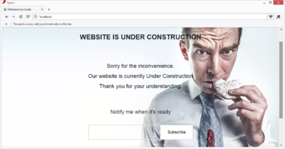 Proyekto101 - Under Construction Page Design
