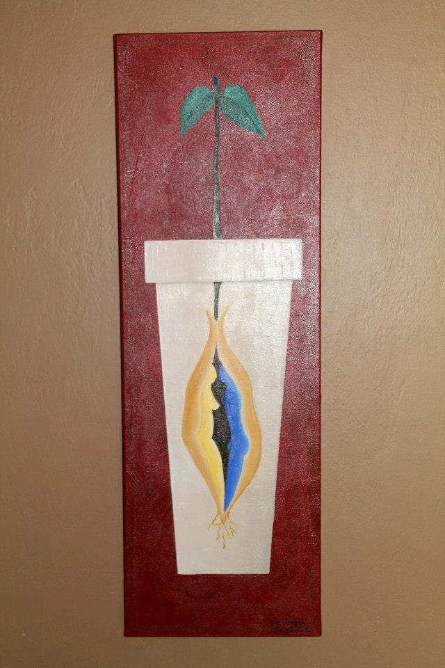 Bespoke Art by Liisa Garceau - Family tree Acrylic on canvas.