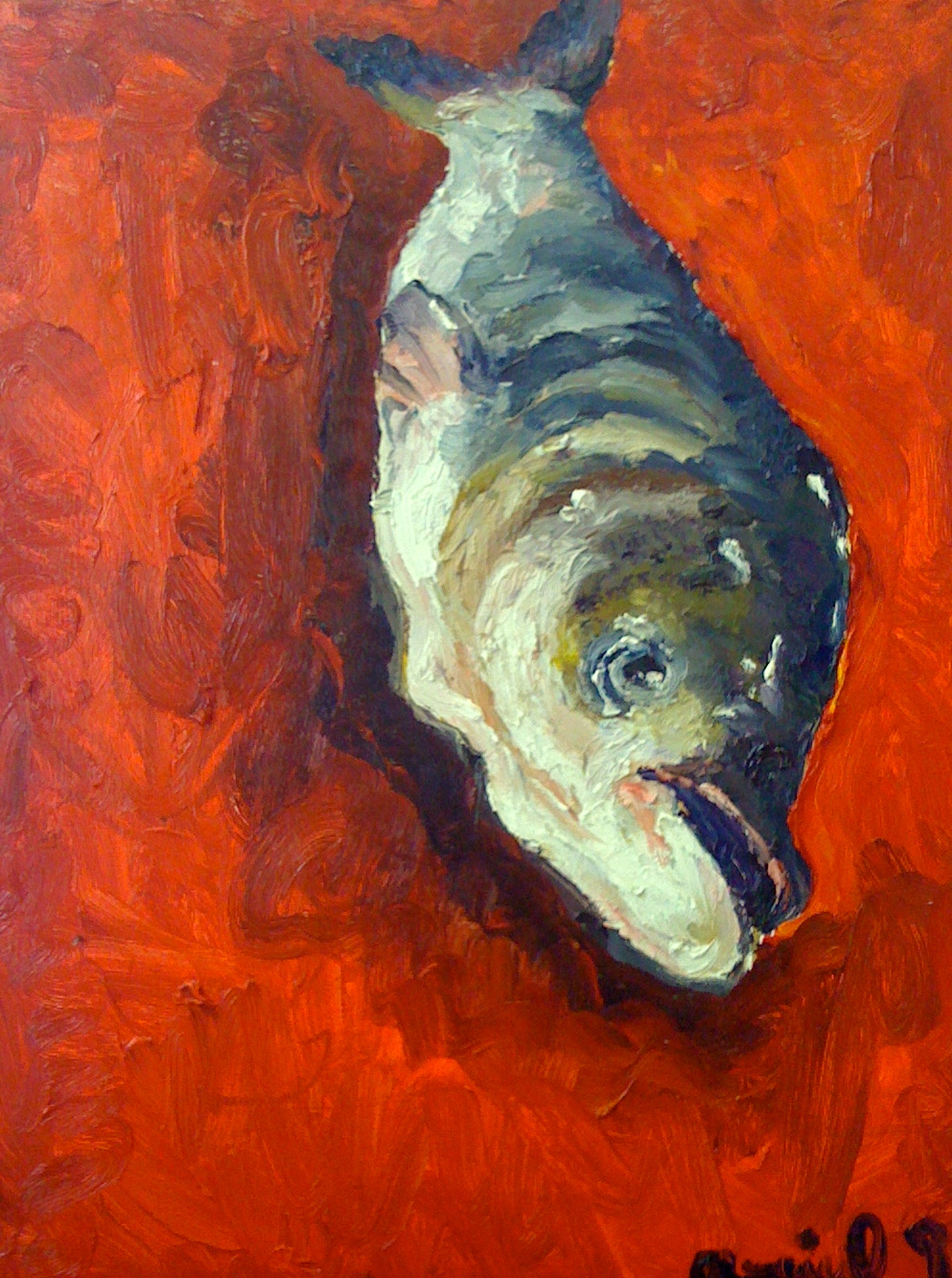 Ariel Navas - Fish (2009) Oil on canvas