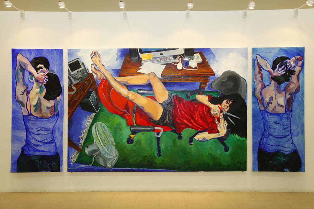 Ariel Navas - A Level Coursework (2012) Oil on canvas