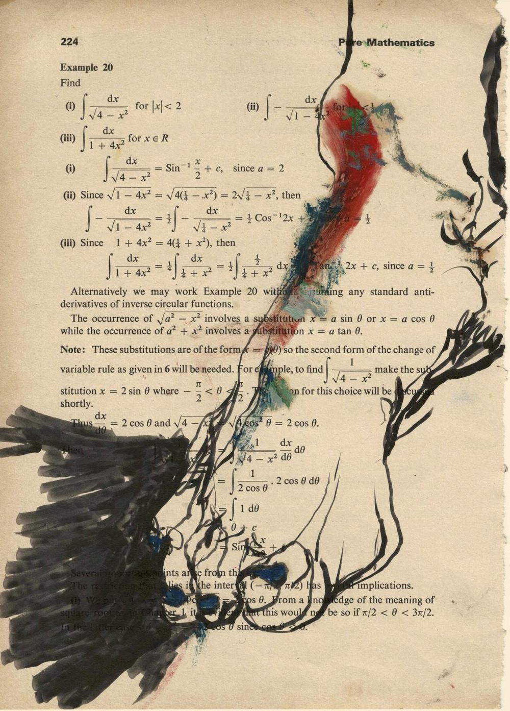 Ariel Navas - Wesleys Foot (2013) Oil and marker on paper