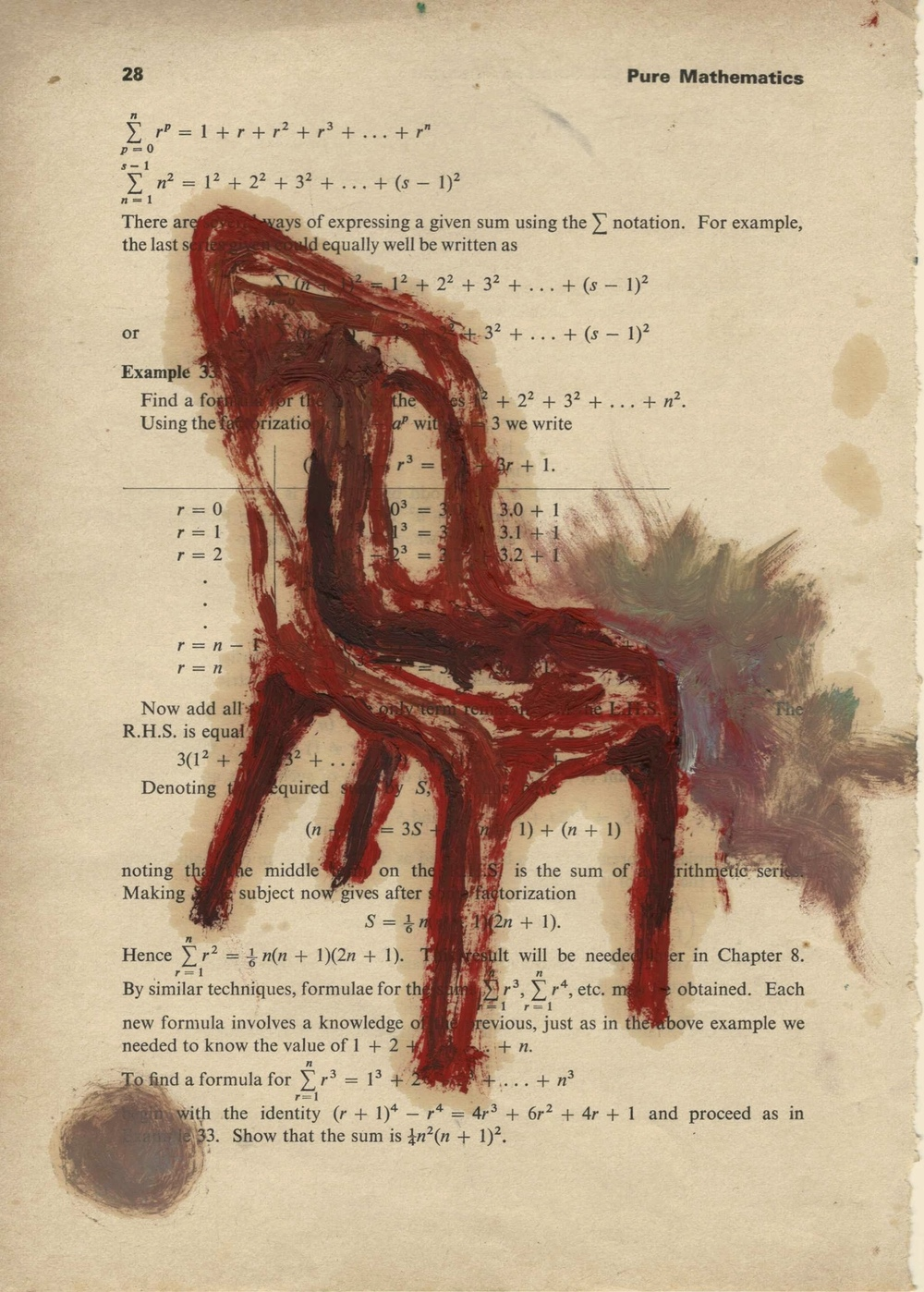 Ariel Navas - Untitled (2013) Oil on paper