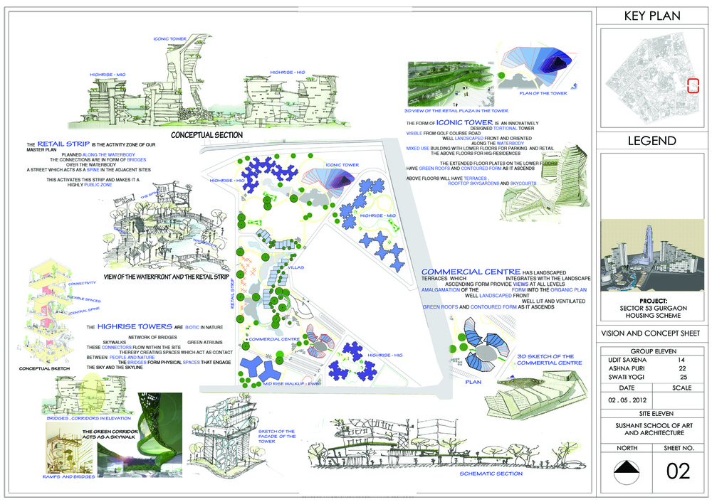 Concept sheet thesis architecture for Landscape design sheets