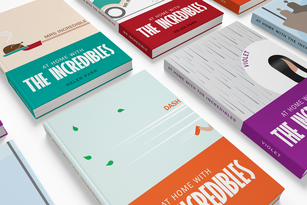 Joanna Shi - Graphic Design & Branding - At Home With The Incredibles (Book Cover Series)