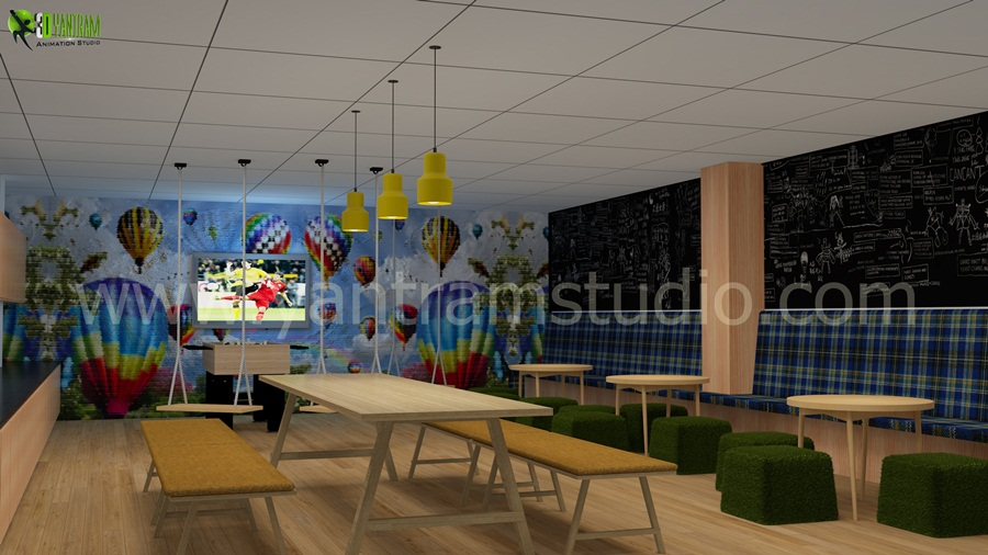 Yantram Studio - A Modern Office 3D Interior Designer by Architectural Animation Studio, Brisbane - Australia