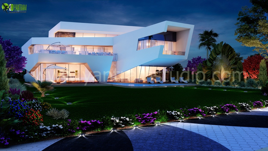 Yantram Studio - A Modern 3D Exterior Rendering CGI Design by Architectural Visualisation Studio, Texas -USA
