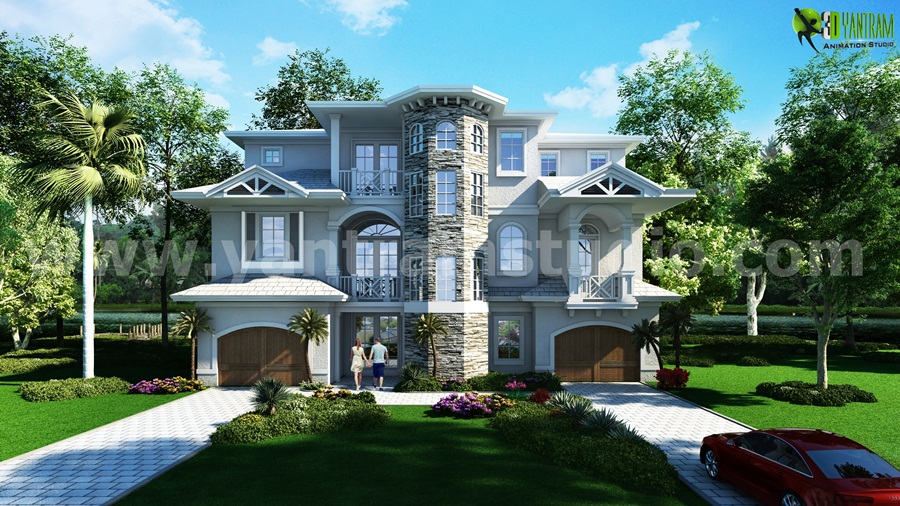 Yantram Studio - The Classic architectural rendering service for Residential House Design