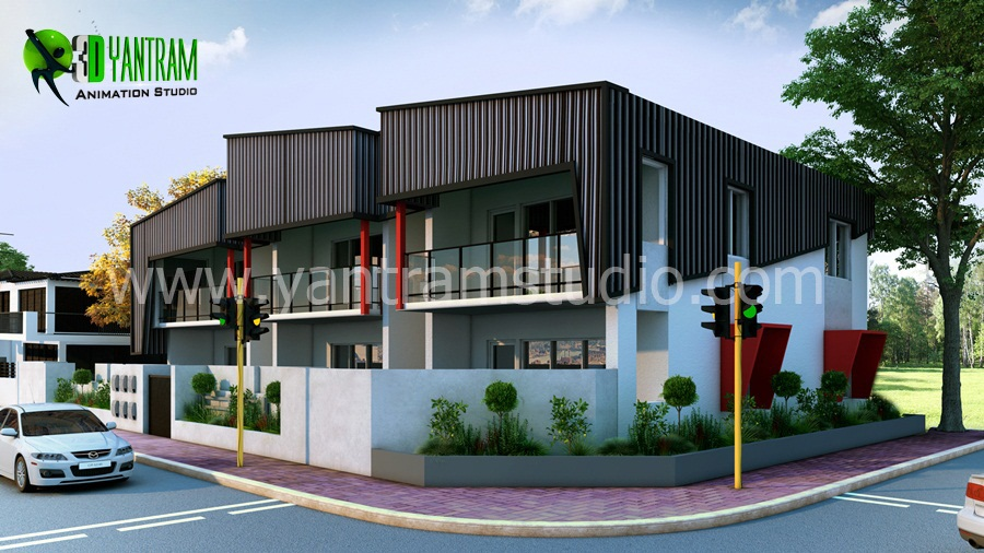 Yantram Studio - Example of 3D Architectural Modern and House Renderings