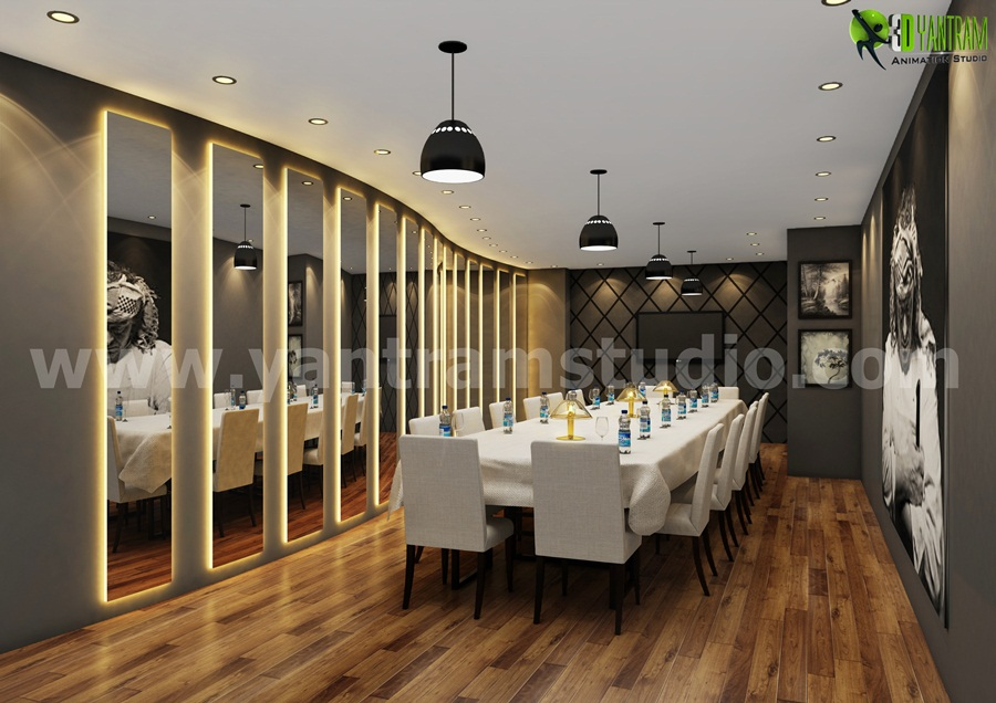 Yantram Studio - 3d interior modeling for Meeting and Board Room Design Ideas