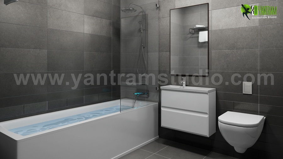 Yantram Studio - The Modern creativity For A Bathroom interior design for home by 3D Architectural Design, Rome - Italy
