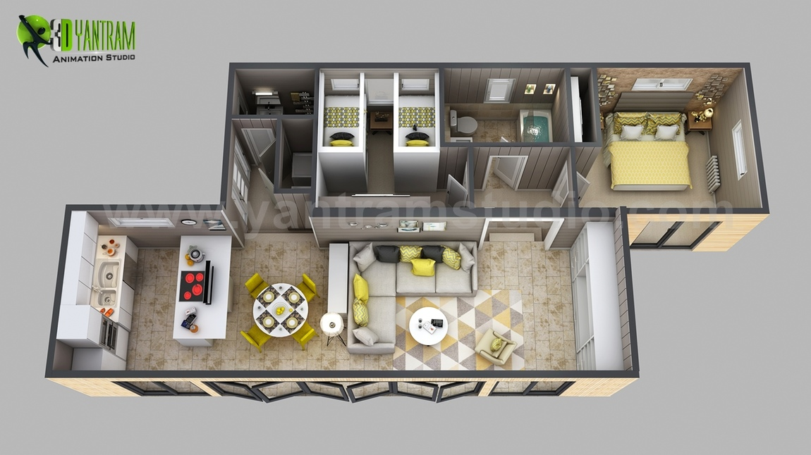 Yantram Studio - 3d House Floor plan Designs, ideas, Images By Yantram 3d animation studio - Atlanta, USA
