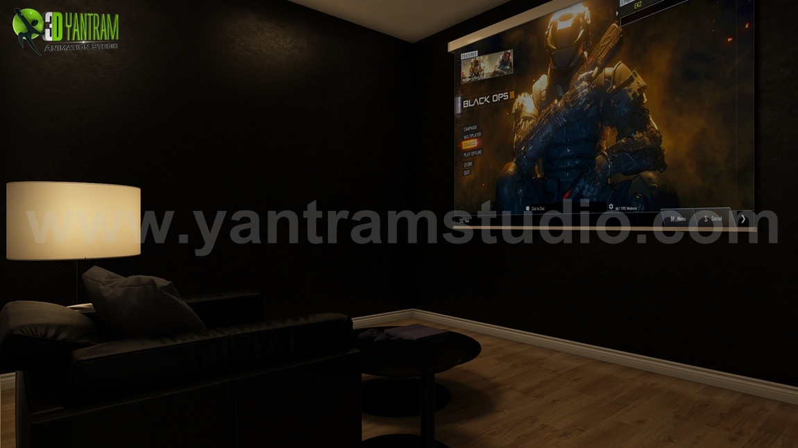 Yantram Studio - Making An Affordable Game Room Design by Yantram 3d animation studio Brussels