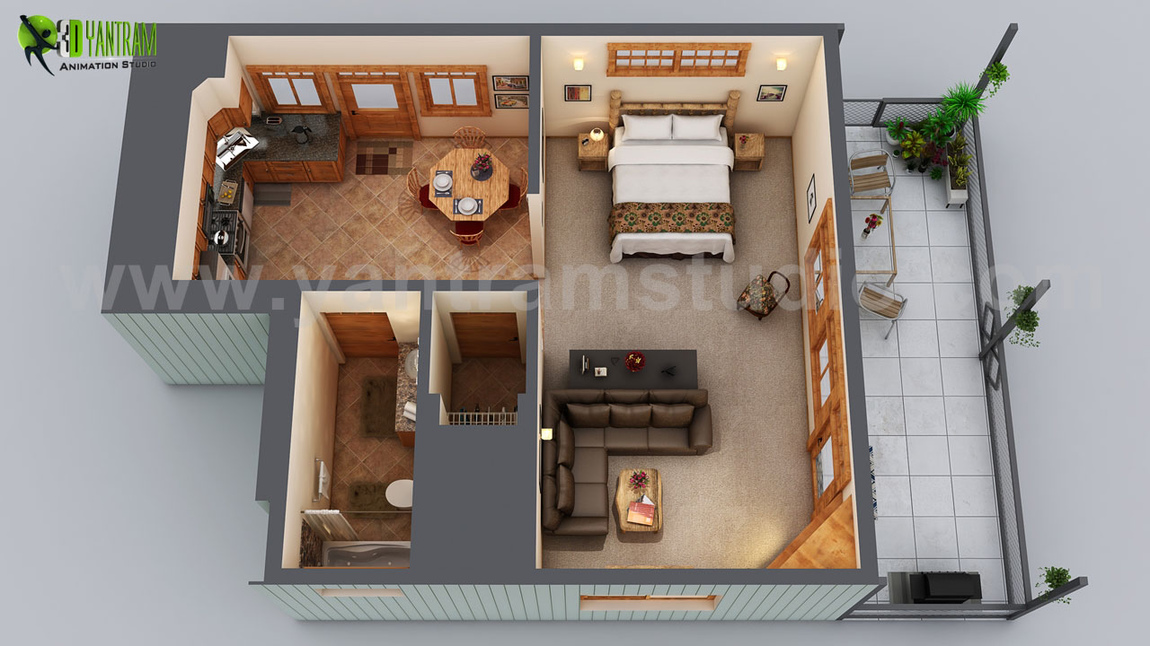 Yantram Studio - Small House Floor Plan Design Ideas by Yantram Floor Plan Design Companies, Chicago - USA