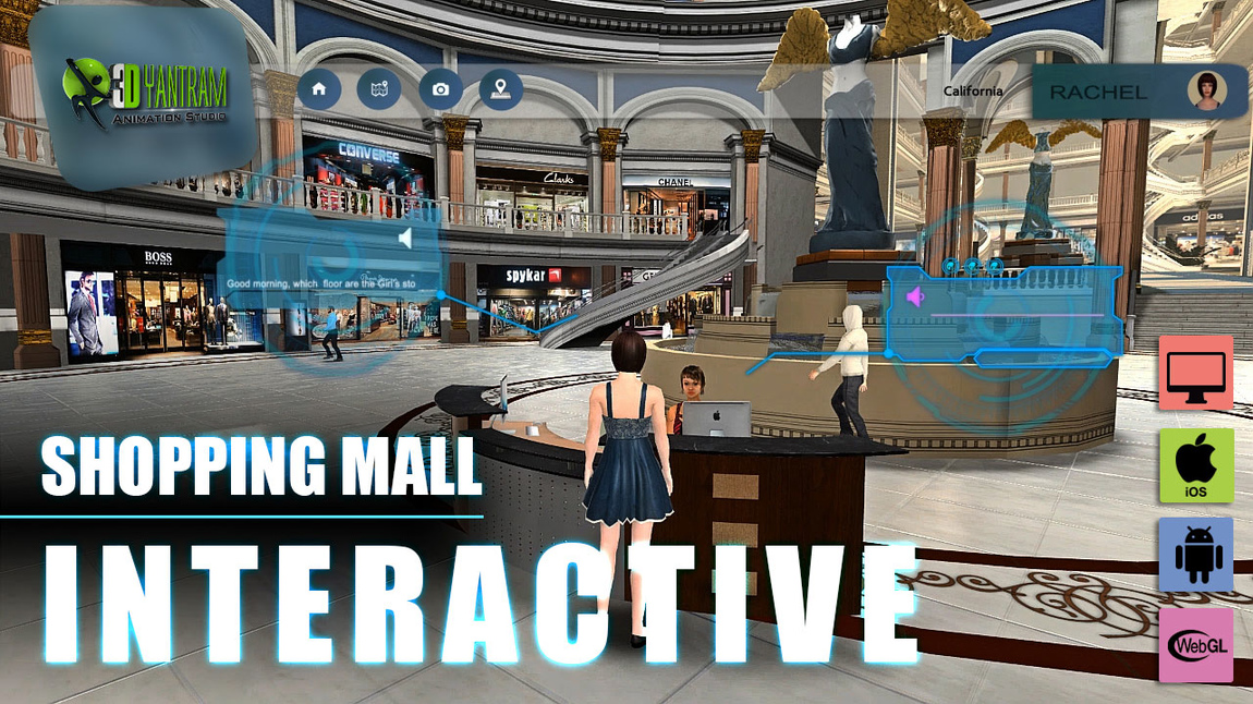 Yantram Studio - Virtual Reality Shopping Mall App Development by Yantram Floor Plan Virtual Reality, Boston - USA