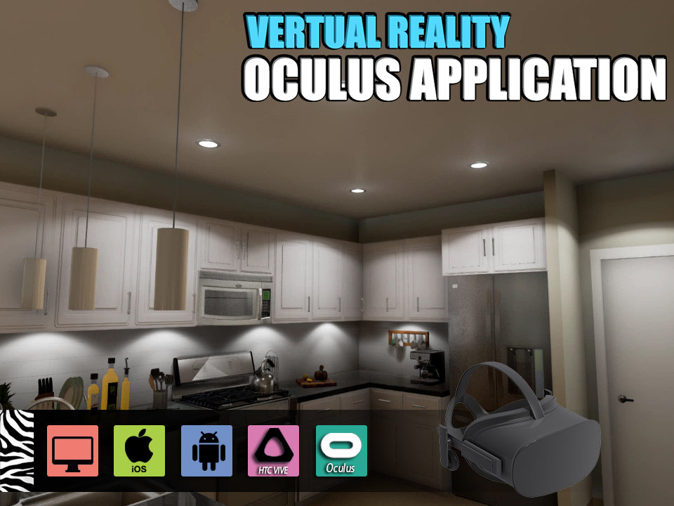 Yantram Studio - Interactive Virtual Reality Kitchen Design for Oculus Device vr development by 3D Architectural Design, Moscow – Russia