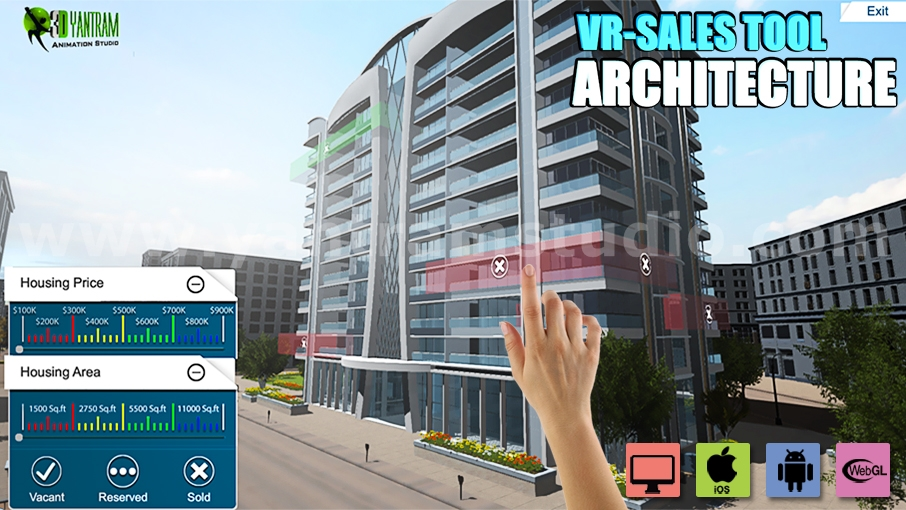 Yantram Studio - Interactive Web Base Real Estate Architecture of VR Development by 3D Walkthrough Services, Rome – Italy