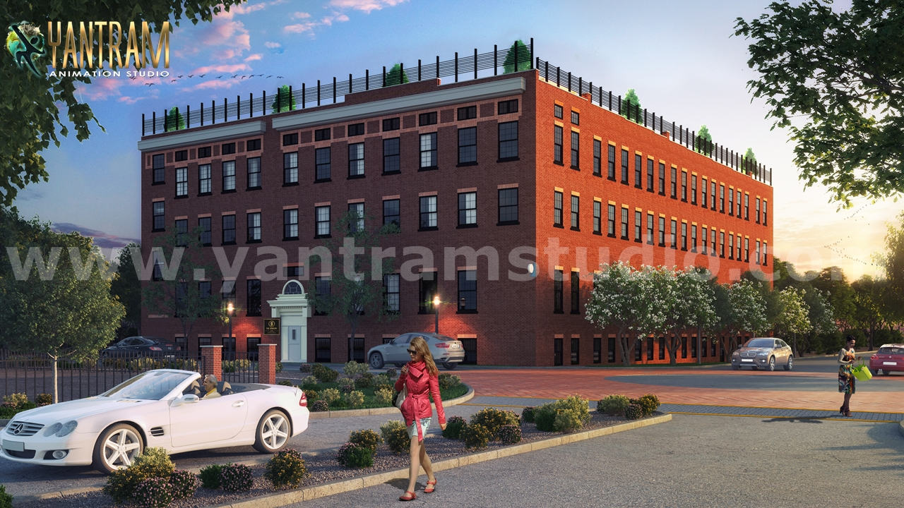 Yantram Studio - Modern Residential & Commercial 3D Exterior Building Designs Ideas by Architectural Rendering Companies, Toronto – Canada