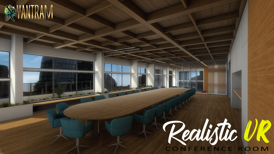 Yantram Studio - 360-degree Realistic VR Conference Room of Virtual Reality Real Estate Companies by VR development, Liverpool – UK