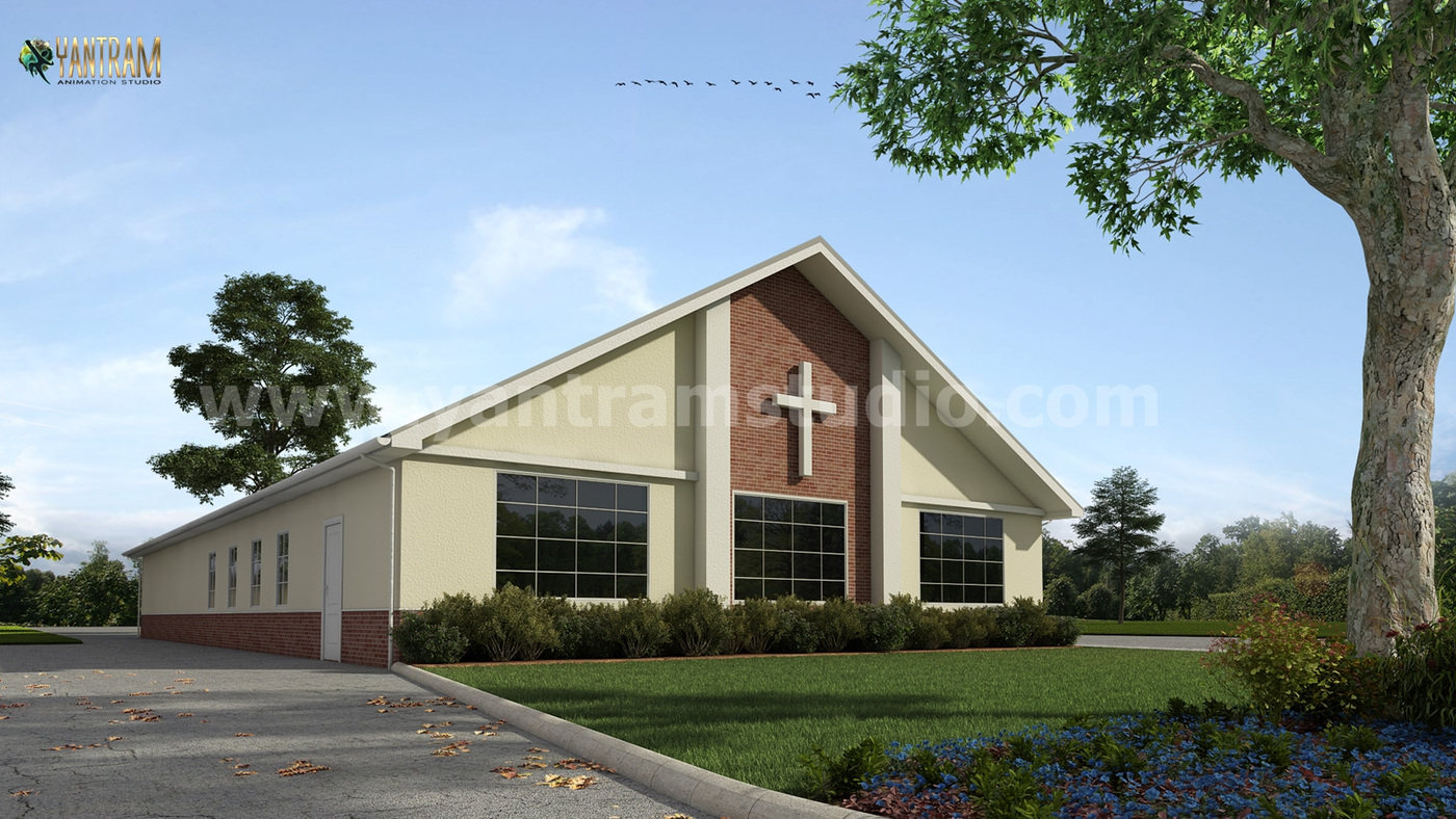 Yantram Studio - Small Church Architectural Building of Exterior Rendering Services by Architectural and Design Services, Giza - Egypt