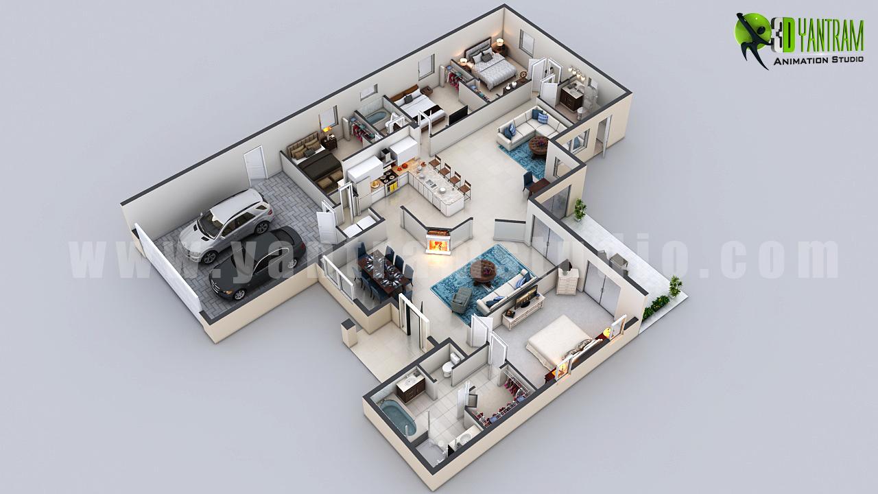 Yantram Studio - 3D virtual Floor Plan Design by Architectural Design Studio – Denver, Colorado