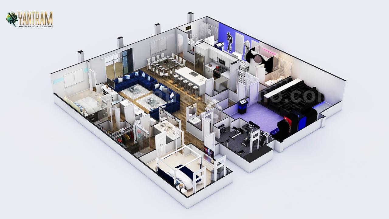Yantram Studio - Signs you need help with 3D Floor plan by Yantram architectural design studio Detroit, Michigan