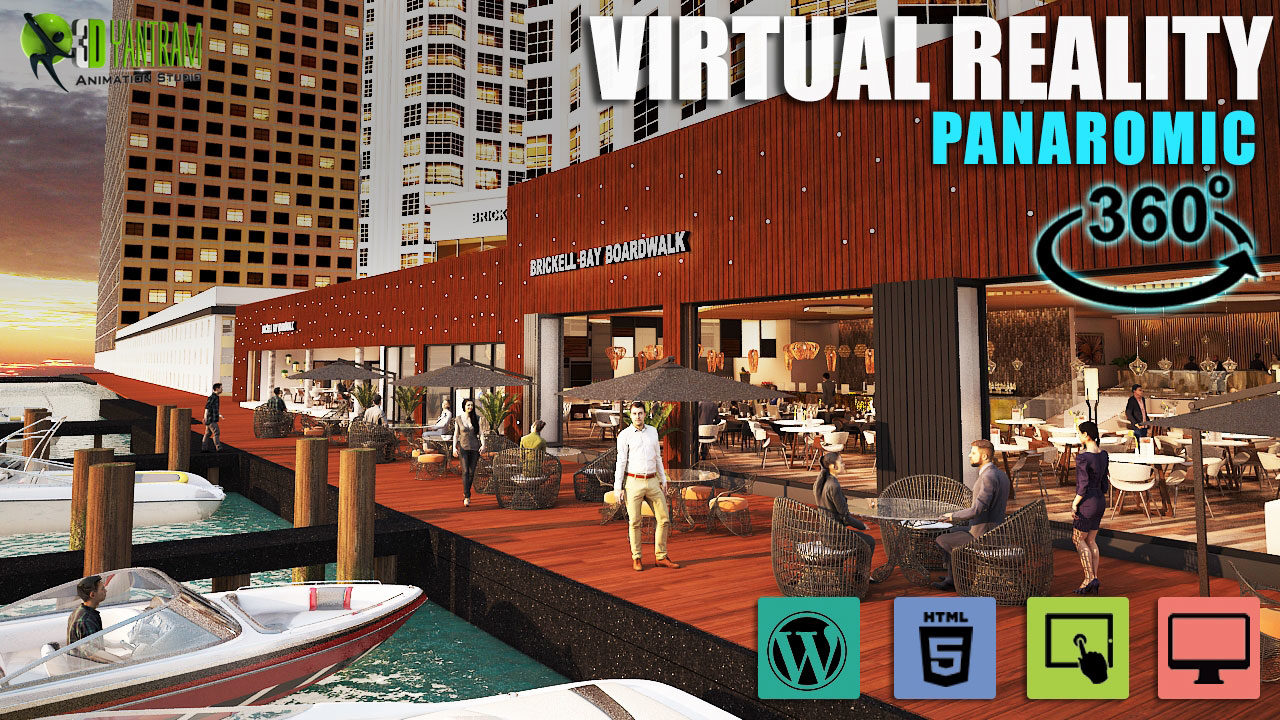 Yantram Studio - 360 Restaurant interior & Exterior virtual reality developer By architectural design studio Indianapolis, Indiana