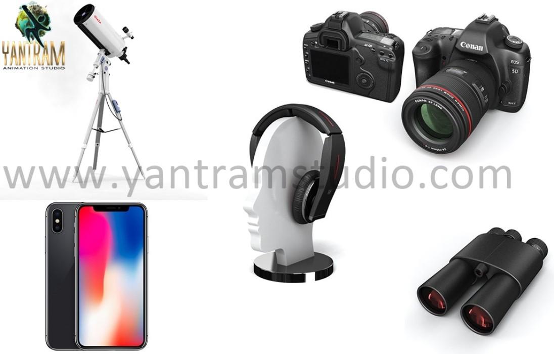 Yantram Studio - 3d Gadgets Rendering - 3d Product visualization services - Wasilla, Alaska