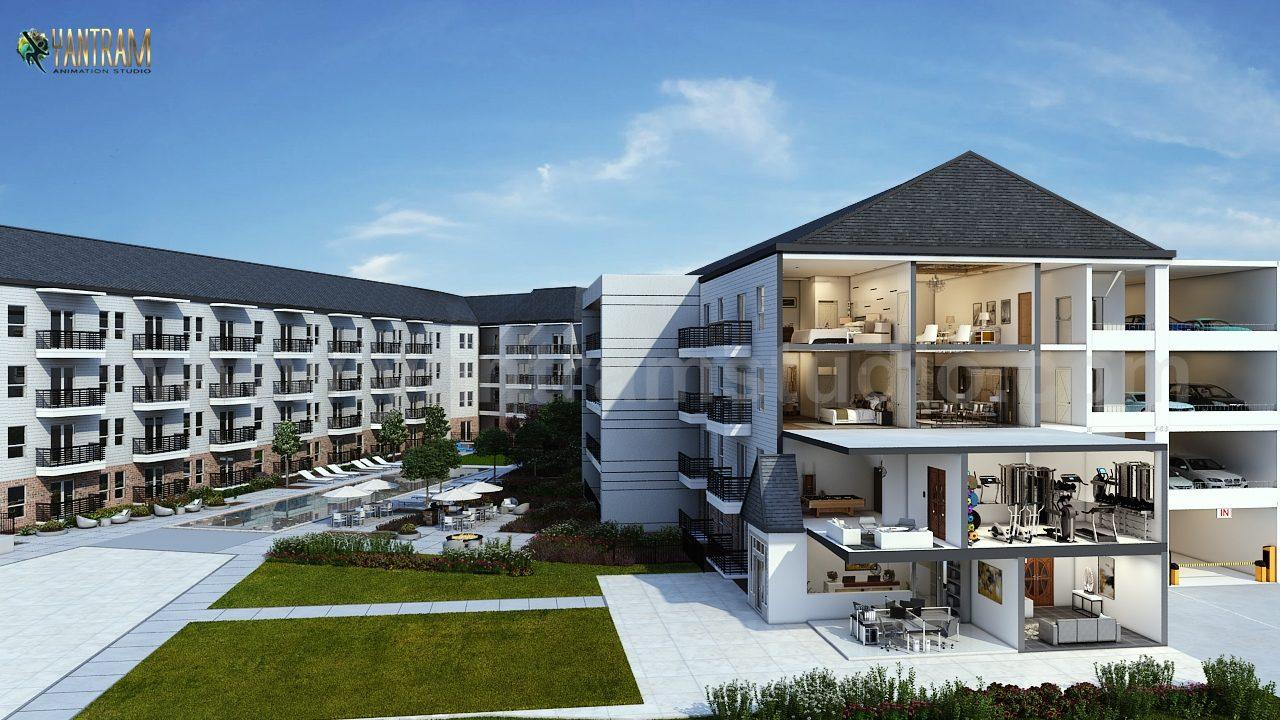 Yantram Studio - 3D floor plan design of Residential Apartment by architectural design studio, Mesquite – New Mexico