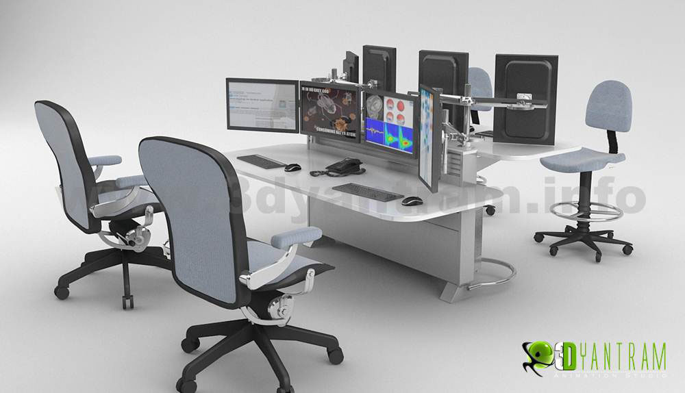Yantram Studio - Office furniture  design of 3d Product visualization services by architectural modelling services, Los Angeles - California