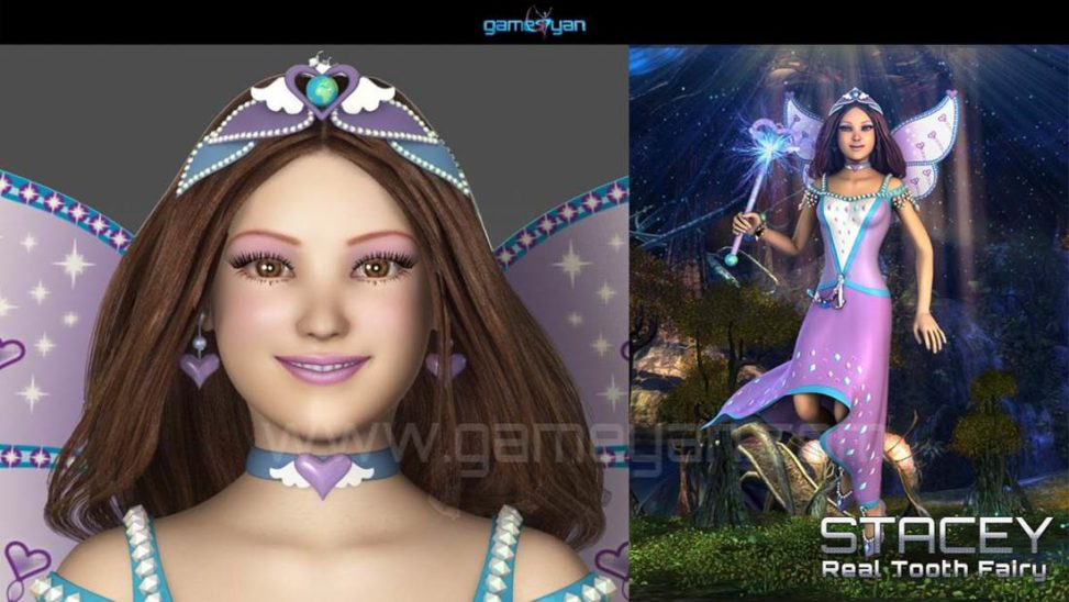 GameYan Studio - 3D Stacey Real Tooth Fairy Cartoon Character Modelling - Gameyan Character Animation Studio