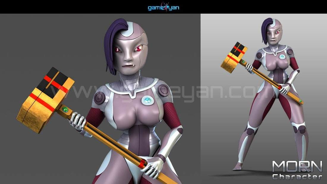 GameYan Studio - 3D Morn Cartoon Character Modeling by Gameyan 3D Animation Studio - Canada
