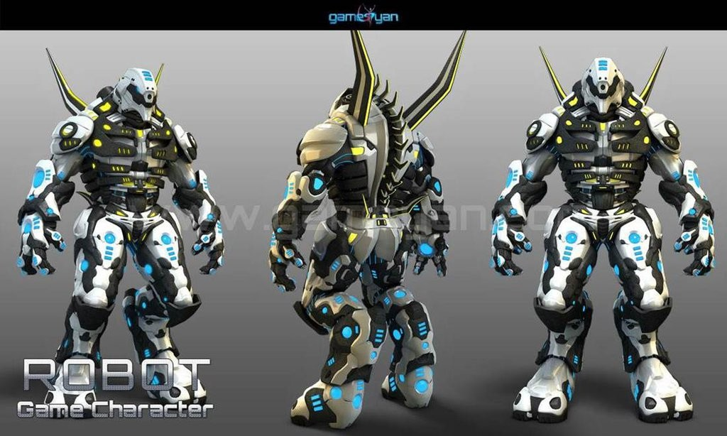 GameYan Studio - 3D Robot Warrior games character Design By Gameyan game outsourcing company - Chicago, USA