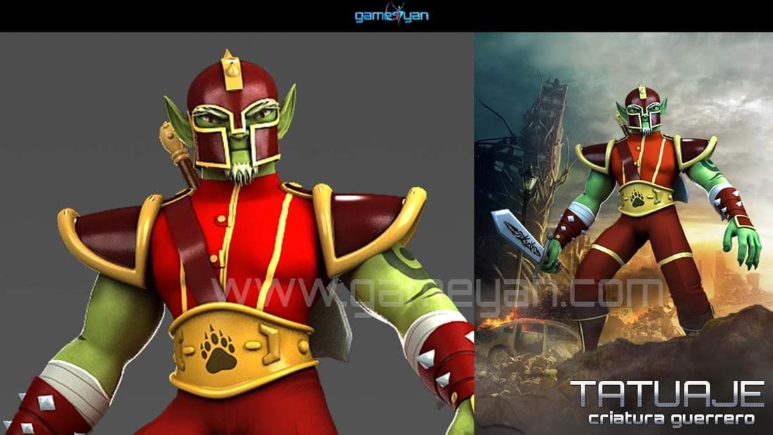 GameYan Studio - Minotorc Warrior Low Poly Character Modeling by Gameyan Character Design Studio - New York, USA