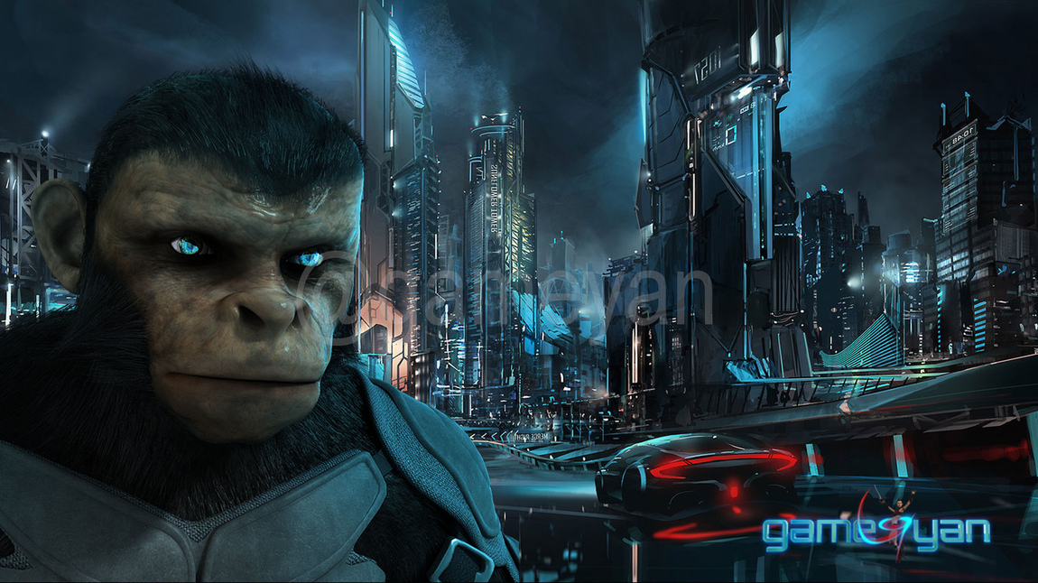 GameYan Studio - Cinematic 3D Character of Kung Fu Ape – sci-fi Cartoon feature film by Gameyan animation outsourcing companies - San Diego, USA